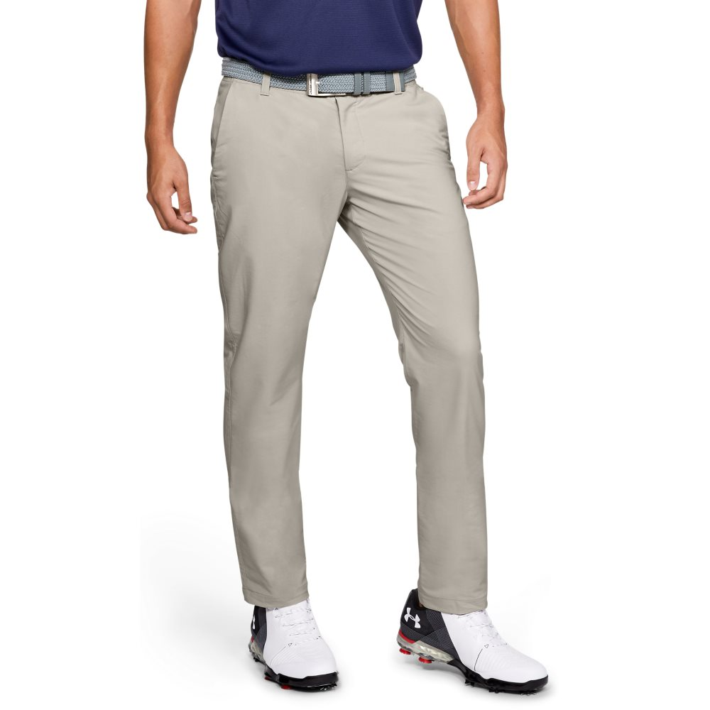Under Armour heren golfpantalon Performance Slim Taper khaki
