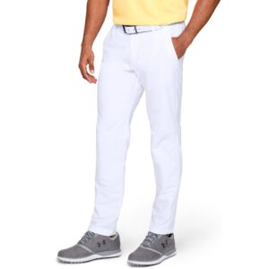 Under Armour heren golfpantalon Performance Slim Taper wit