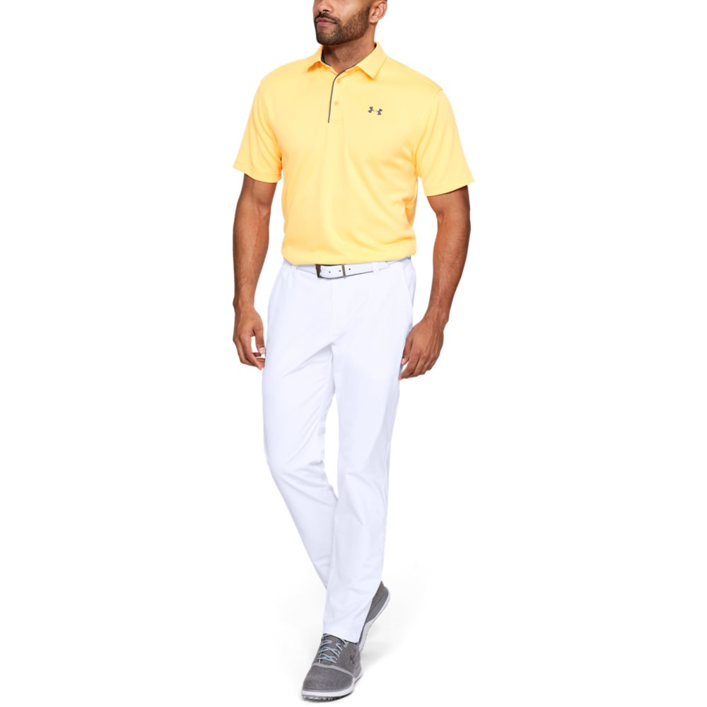 Under Armour heren golfpantalon Performance Slim Taper wit