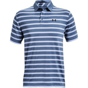 Under Armour heren golfpolo Playoff 2.0 Back 9 blauw gestreept