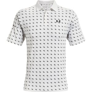 Under Armour heren golfpolo Playoff 2.0 Deuces wit zwart