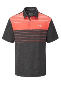 Under Armour heren golfpolo Playoff 2.0 Press zwart-rood