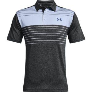 Under Armour heren golfpolo Playoff 2.0 Press zwart-blauw