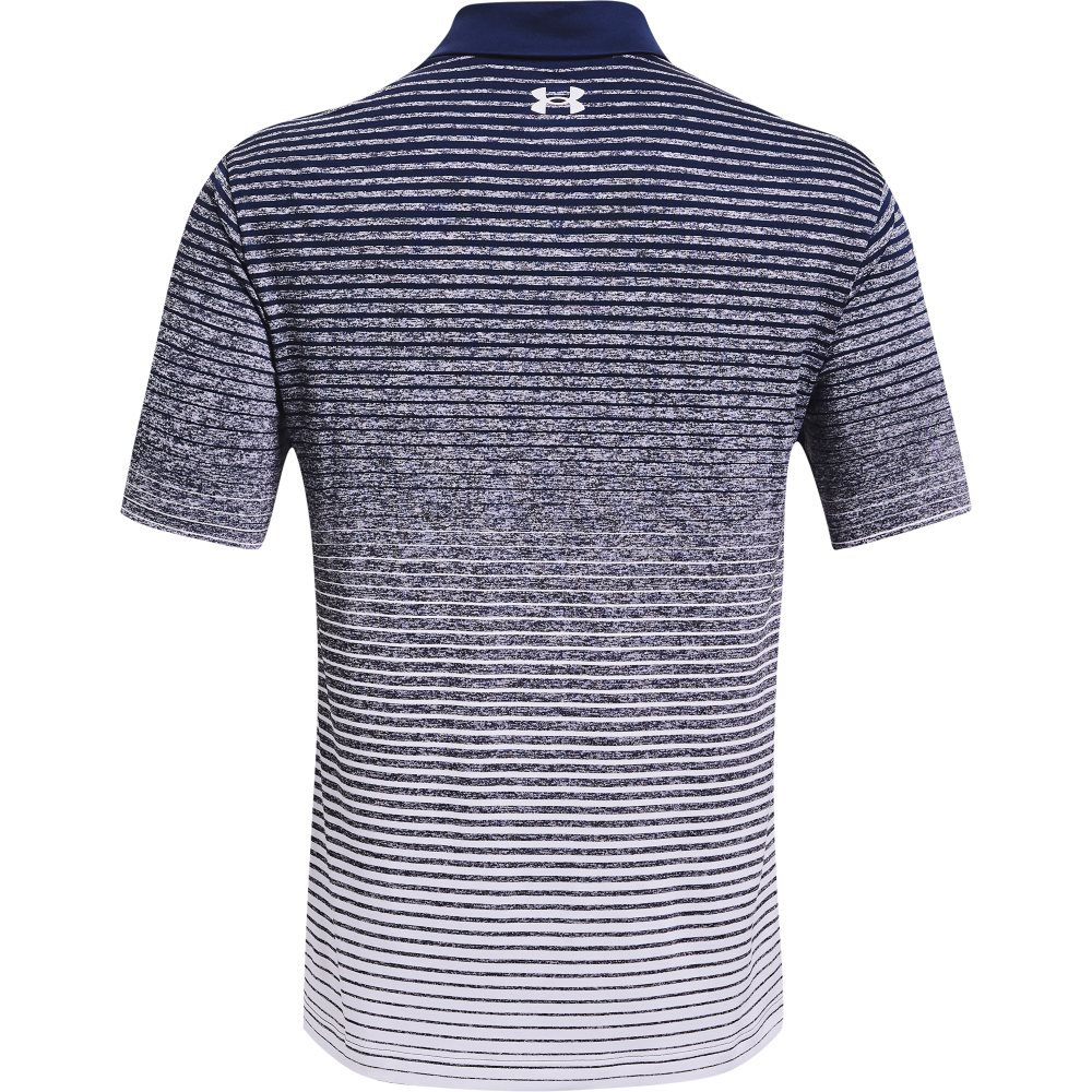 Under Armour heren golfpolo Playoff 2.0 Up&Down blauw-wit