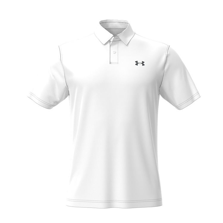 Under Armour heren golfpolo T2G gebroken wit