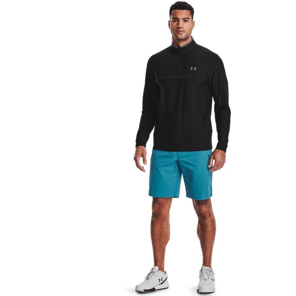 Under Armour heren golfsweater Playoff 2.0 korte rits zwart
