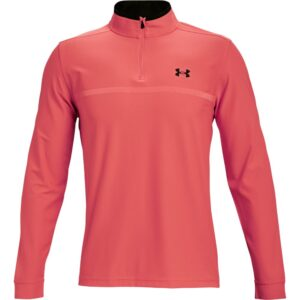 Under Armour heren golfsweater Playoff 2.0 korte rits rood