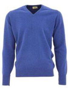 William Lockie heren golfpullover lamswol V-hals lagoon