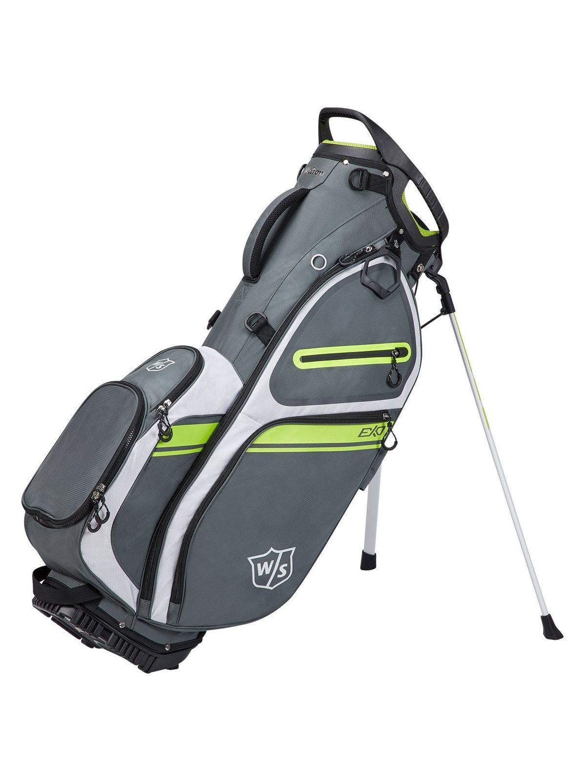 Wilson Staff golftas Exo II Stand Bag grijs-wit-lime