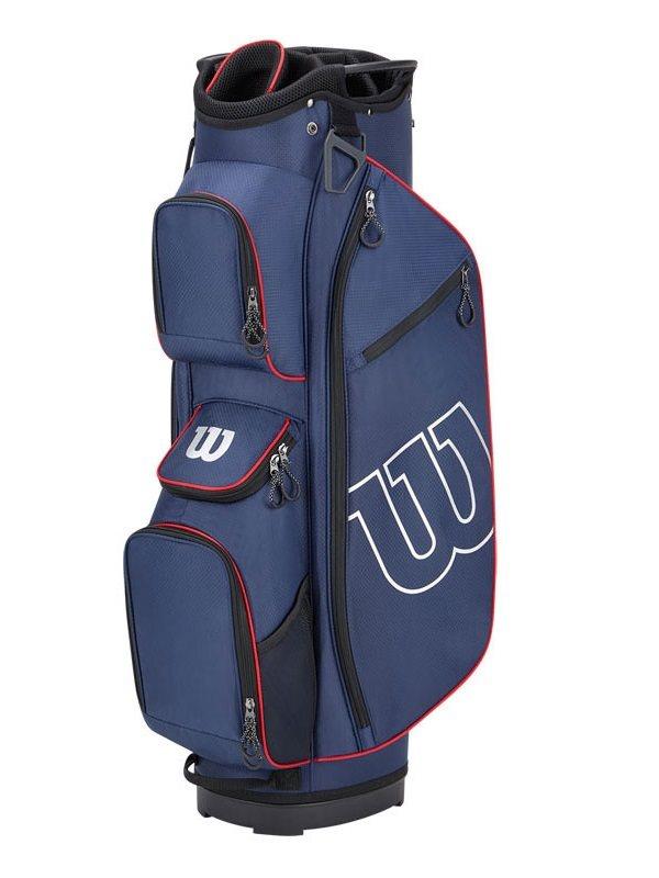 Wilson Staff golftas Prostaff Cart Bag navy-rood