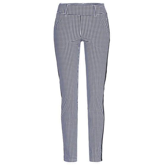 Alberto dames golfpantalon Lucy zwart-wit ruitje