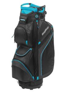 BagBoy golftas DG-Lite II TL Cart Bag zwart-turquiose-witte stippen
