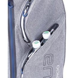 Big Max golftas Aqua Silencio 3 Cart Bag donkergrijs-zwart-rood