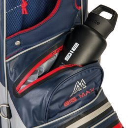 Big Max golftas AQUA Sport 3 Cart Bag zwart-grijs
