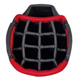 Big Max golftas AQUA Sport 3 Cart Bag donkergrijs-zwart-rood