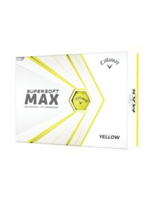 Callaway golfballen Supersoft Max geel