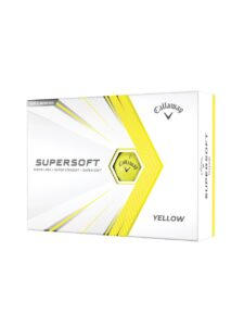 Callaway golfballen Supersoft geel