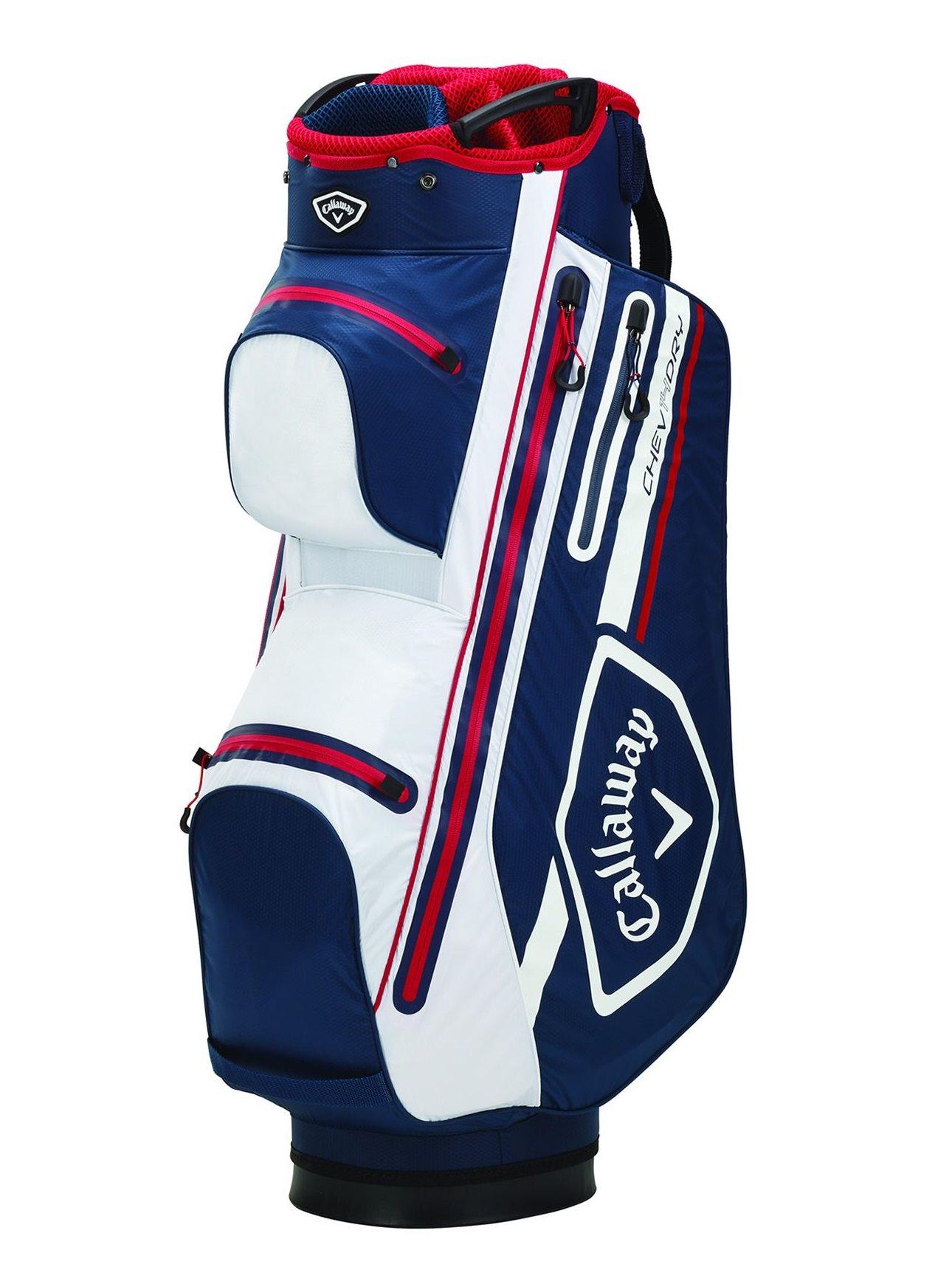 Callaway golftas Chev 14 Dry Cart Bag navy-wit-rood