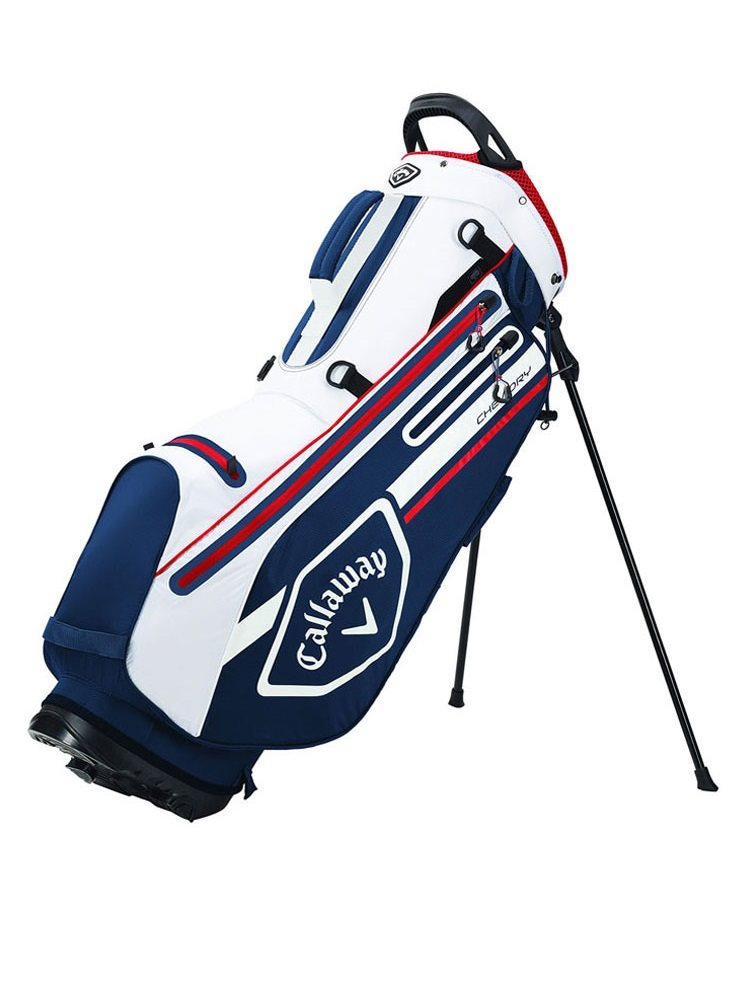 Callaway golftas Chev Dry Stand Bag navy-wit-rood