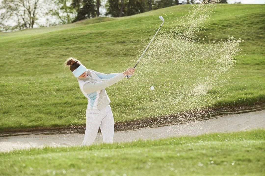 Daily Sports dames golfpantalon Caterina High Water wit printje