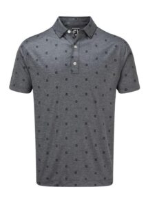FootJoy heren golfpolo Smith Pique FJ Tonal Print navy