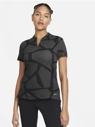 Nike dames golfpolo zwart