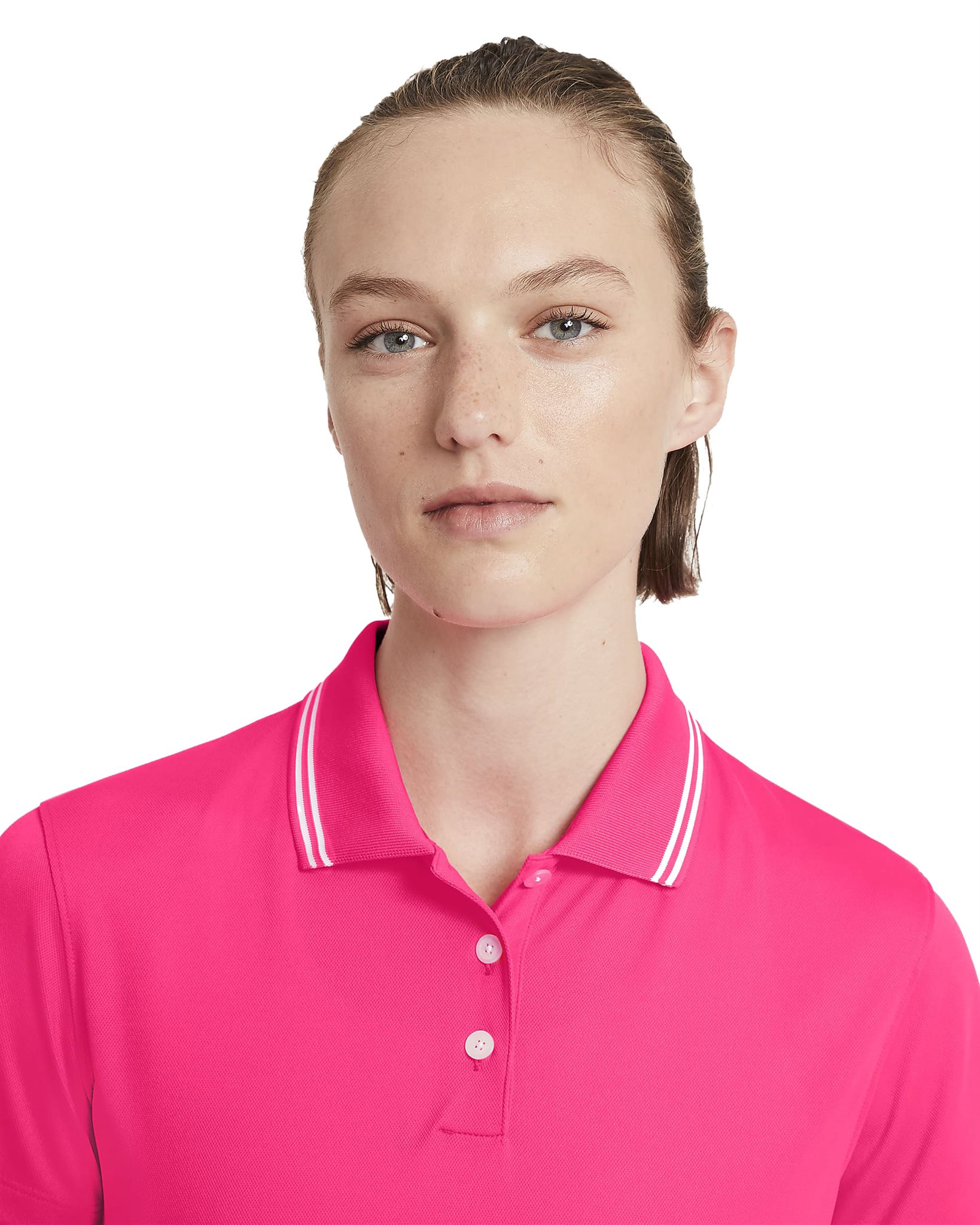 Nike dames golfpolo Dri-FIT Victory pink