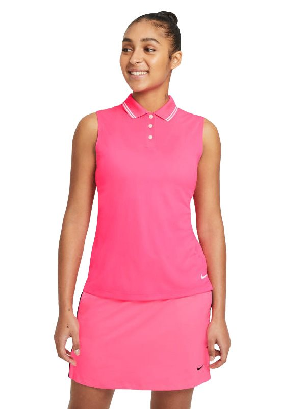 Nike dames golfpolo zonder mouw Dri-FIT Victory pink