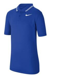 Nike junior golfpolo Dri-FIT Victory Solid blauw