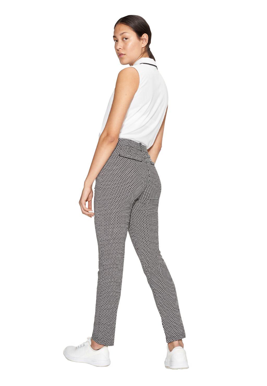 Röhnisch dames golfpantalon Smooth zwart-wit ruitje
