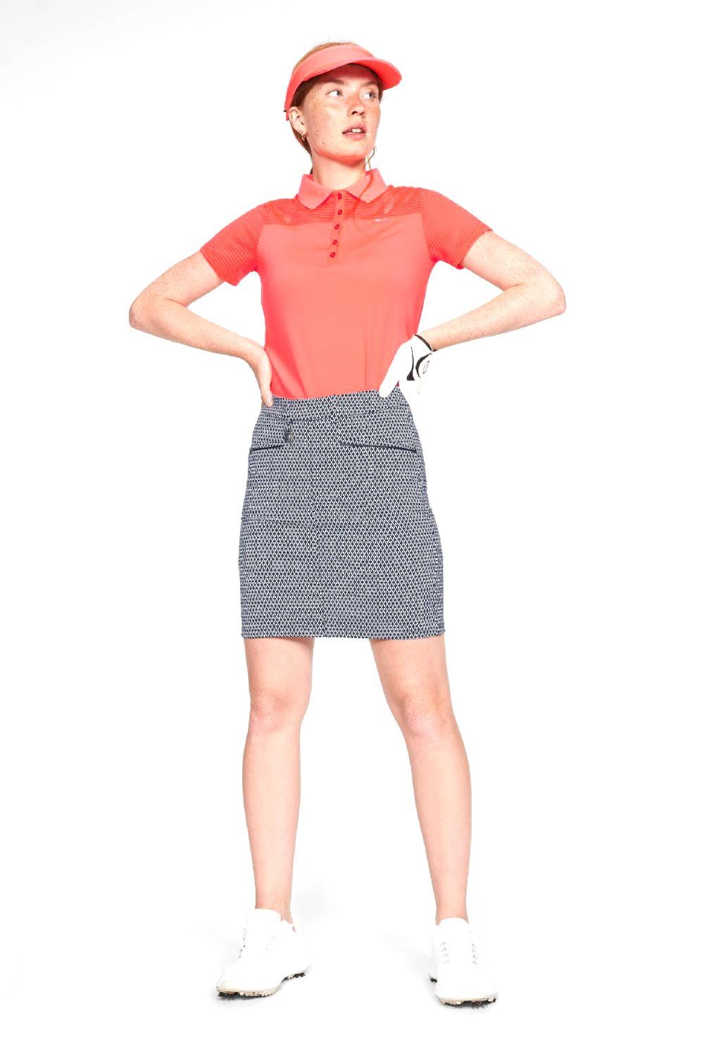 Röhnisch dames golfpolo Miko neon pink