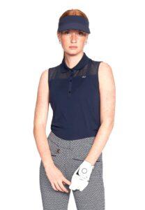Röhnisch dames golfpolo zonder mouw Miko navy