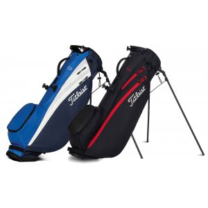 Titleist golftas Players 4 Carbon Stand Bag blauw-wit