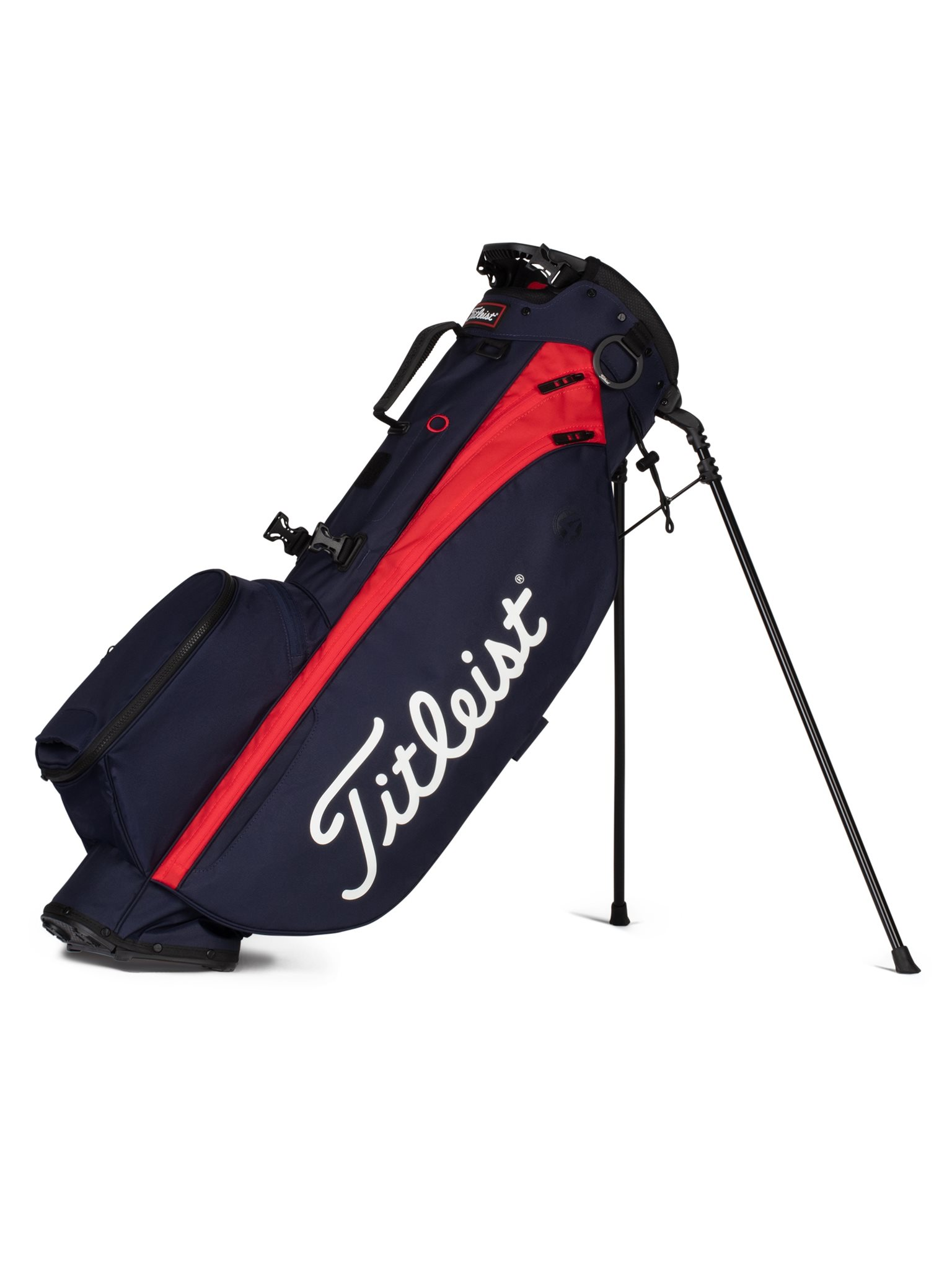 Titleist golftas Players 4 Stand Bag navy-rood