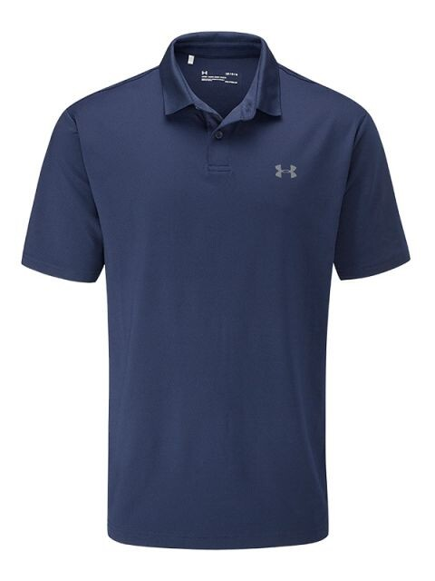 Under Armour heren golfpolo Performance 2.0 donkerblauw