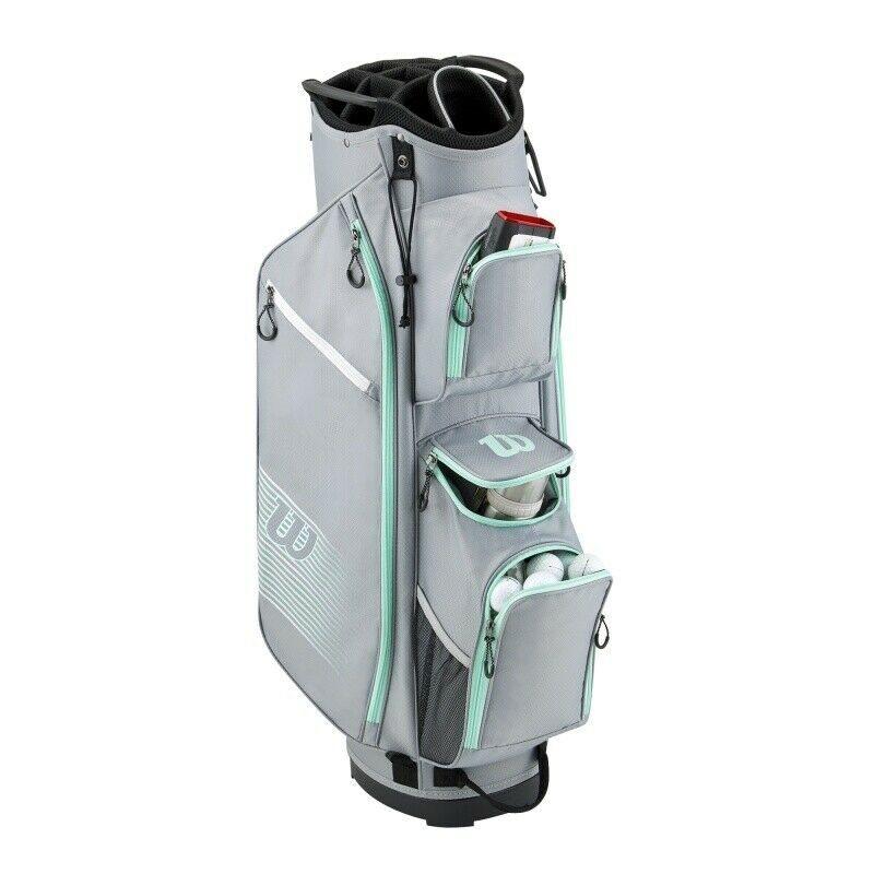Wilson Staff golftas Prostaff Cart Bag zilver-mint