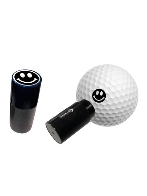 Asbri golfbalstempel Smiley zwart