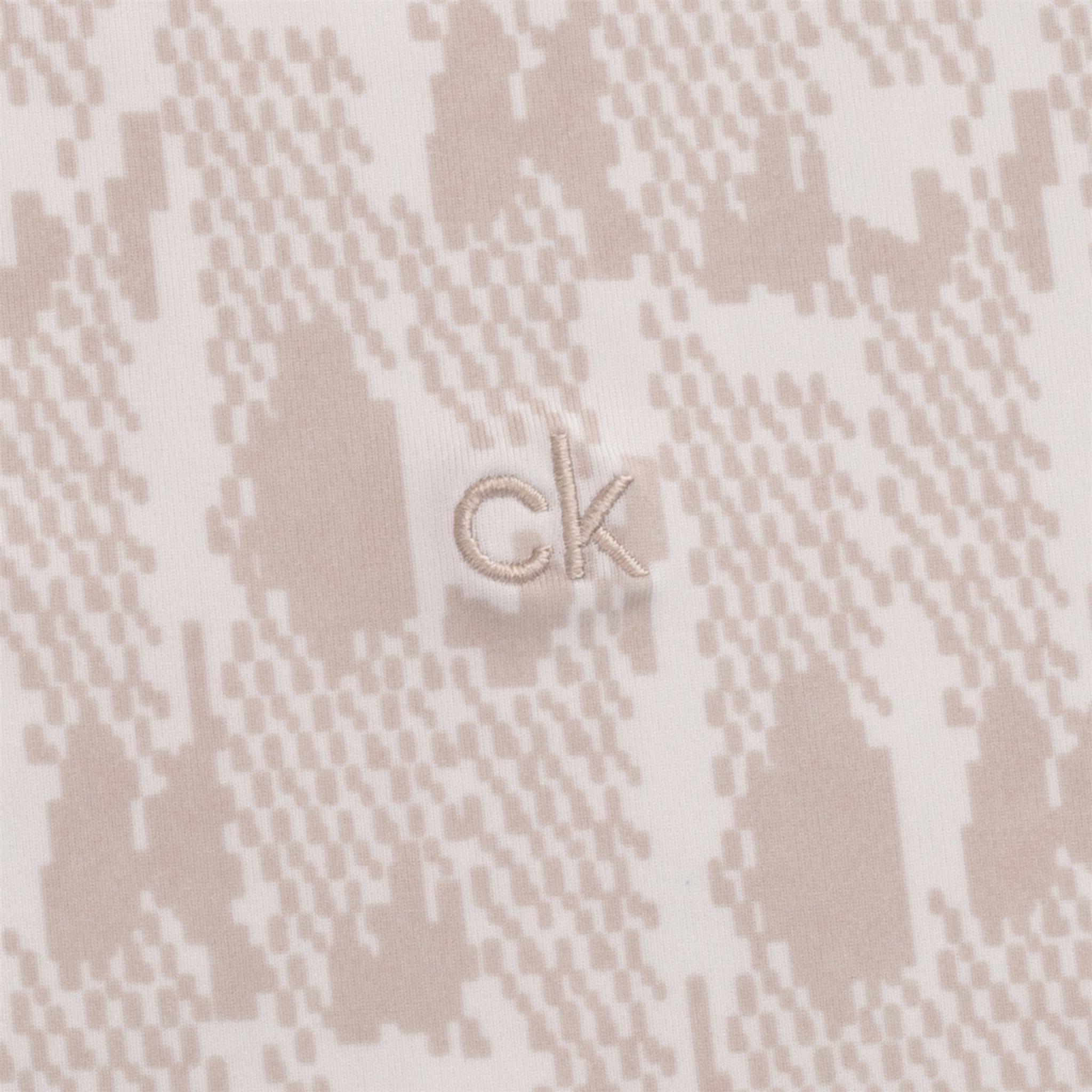 Calvin Klein dames golfpolo zonder mouw Avon print zand