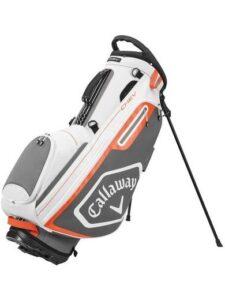 Callaway golftas Chev Stand Bag wit-grijs