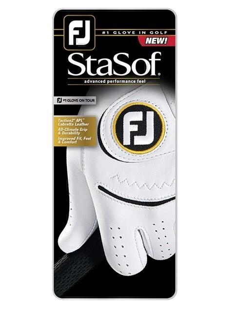 FootJoy heren golfhandschoen StaSof wit