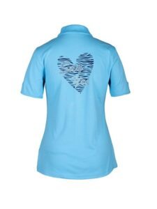 Girls Golf dames golfpolo Say Yes In A Heart korte mouw turquoise