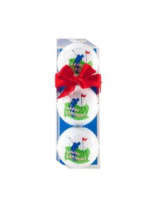 Sportiques golfballen Happy Birthday golf 3 stuks