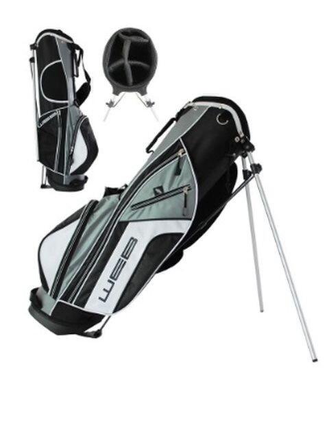 Go Web junior golftas Stand Bag 11-13 jaar zwart-grijs-wit