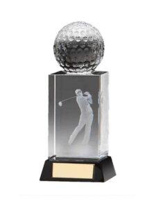 Fore golfer in glas 2e prijs
