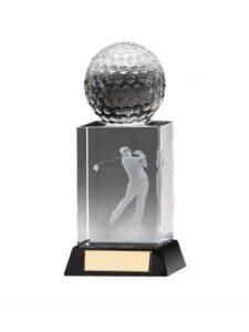 Fore golfer in glas 3e prijs