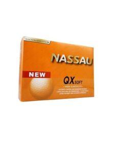 Nassau golfballen QX Soft geel