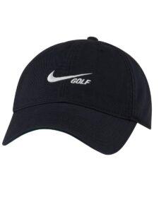 Nike golfpet Heritage86 Washed Cap zwart