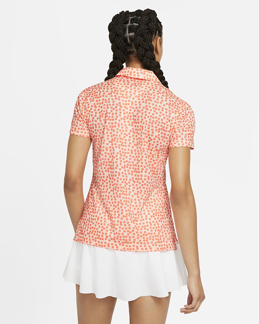 Nike dames golfpolo Dri-FIT Grid print tint