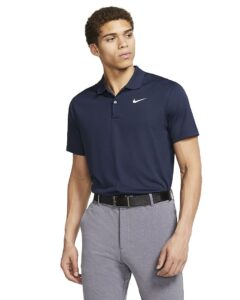 Nike heren golfpolo Dri-FIT Victory Solid blauw
