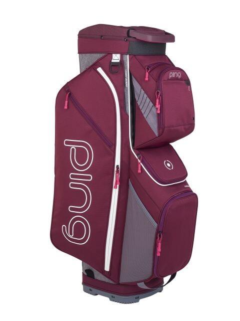 Ping golftas Ladies Traverse Cart Bag paars-grijs